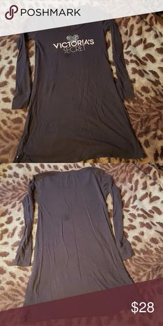 VS Grey Nighty Looks new, no signs if wear, only worn a few times, spot in the pictures is on my camera lens not the nighty! Victoria's Secret Intimates & Sleepwear Pajamas