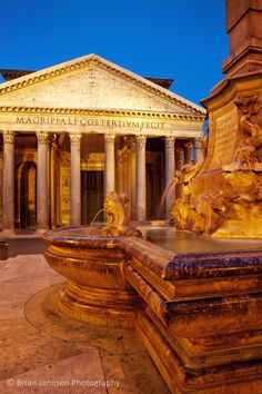 Pre-dawn at the Pantheon in Rome, Lazio Italy. © Brian Jannsen Photography