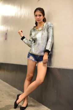 #silver #metallic #sweater