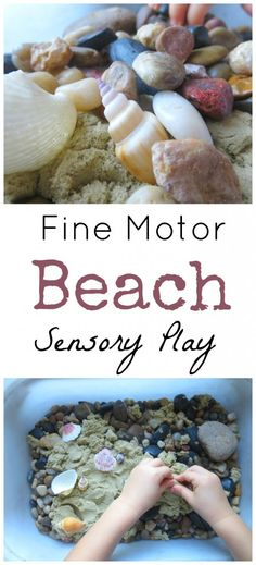 When you can't get to the beach this summer, bring the fun home with this simple idea! Fine Motor Beach Sensory Play