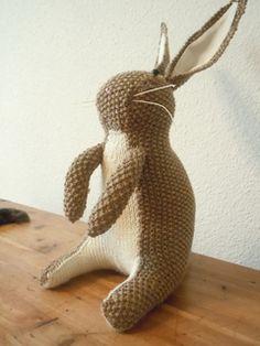 vintage rabbit free knitting pattern