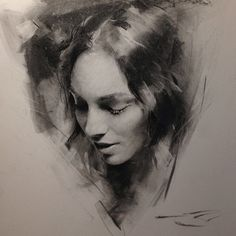 Portrait Drawings of Charcoal Studies. To see more art and information about Casey Baugh click the image.