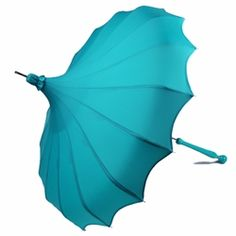 My favorite style of pagoda umbrella now comes in an aqua color!