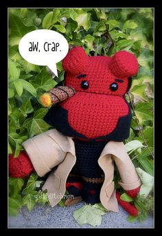 Hellboy Amigurumi- this is my favorite ami ever, its amazing!