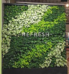 Living Green Walls - Plantscape, Inc. Living Green Wall, Wall Logo, Moss Wall, Office Plants, Backyard Garden Design, Funeral Flowers, View Image, Flower Decorations, Signage