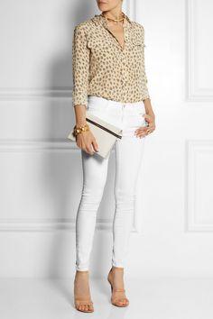 Frame Denim | Le Color mid-rise skinny jeans | NET-A-PORTER.COM