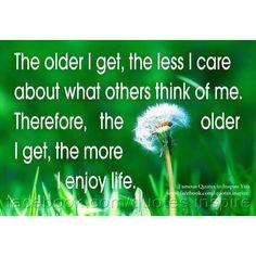 ...enjoying life more!