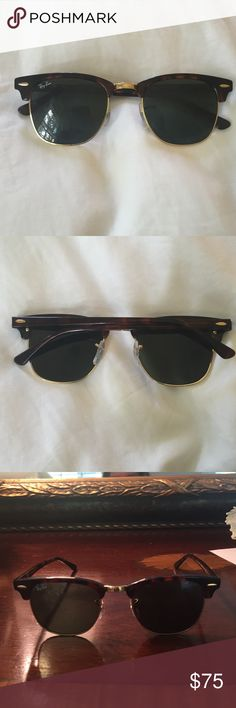 used ray ban clubmaster sunglasses  ray ban club master sunglasses gently used sunglasses with no damage ray ban accessories sunglasses