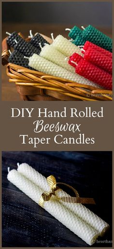 Rolled beeswax candles are wonderful handmade gifts, you can easily make for all your family and friends throughout the year.