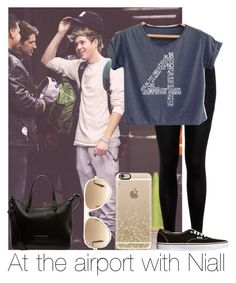 """""""At The Airport With Niall"""" by hazzgirl03 ❤ liked on Polyvore featuring beauty, Miss Selfridge, Casetify, Vans, Marc by Marc Jacobs and Ray-Ban"""