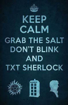 """SuperWhoLock Poster - 11 x 17 Glossy Cardstock - Superwholock Keep Calm Design - Supernatural Doctor Who Sherlock"" $12 on etsy... SO AWESOME"