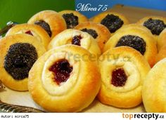 Koláčky bez kynutí - Recipe for wedding kolache - need to test this dough! Slovak Recipes, Czech Recipes, Russian Recipes, Mexican Food Recipes, Ethnic Recipes, Danishes, Home Baking, Bread And Pastries, Sweet And Salty