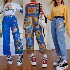 Indie Outfits, Teen Fashion Outfits, Retro Outfits, Cute Casual Outfits, Girly Outfits, Vintage Outfits, 70s Fashion, Girl Fashion, Fashion Dresses