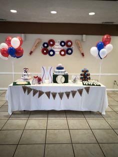 Baseball Theme Birthday, Sports Themed Birthday Party, Baseball Party, 1st Boy Birthday, 1st Birthday Parties, Theme Parties, Birthday Ideas, Baby Shower Themes, Baby Boy Shower