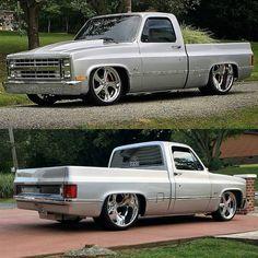 Dropped Trucks, Lowered Trucks, C10 Trucks, Chevy Pickup Trucks, Classic Chevy Trucks, Chevrolet Trucks, 1984 Chevy Truck, Chevy S10, Old Chevy Pickups
