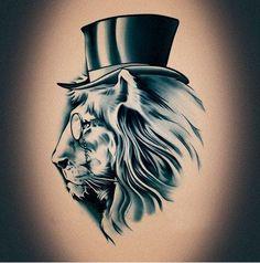 Hat Fashion Pattern temporary tattoo: Tattoo Ideas Fake Tattoos Lion ...