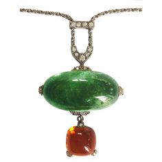 Aquamarine Citrine And Diamond Pendant Necklace http://www.1stdibs.com/necklaces/drop-necklaces/ GIOIELLI DALBEN