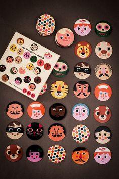 memory - omm design / ingela p arrhenius.idea works for barrettes as well. Diy For Kids, Crafts For Kids, Board Game Design, Karten Diy, Designer Toys, Diy Toys, Toddler Activities, Cool Toys, Kids Playing