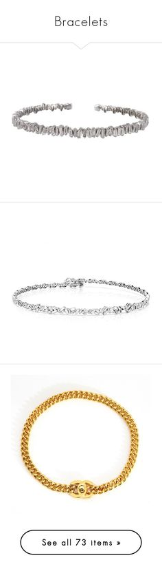 """""""Bracelets"""" by jadahnicole ❤ liked on Polyvore featuring jewelry, bracelets, cuff bangle, diamond bangles, diamond cuff bangle, white gold diamond bangle, white gold jewellery, necklaces, chokers and accessories"""