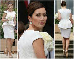 MYROYALS &HOLLYWOOD FASHİON: Claire Lademacher in Jan Taminiau-civil wedding dress