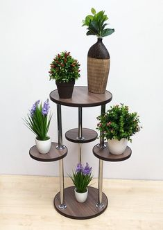 Indoor plant stand Tall plant stand Indoor planter Multi tier pot stand Mid century plant stand Wood plant stand Home decor Bavaria 8 Tall Plant Stands, Modern Plant Stand, Wood Plant Stand, Stand Tall, House Plants Decor, Plant Decor, Tiered Plant Stand Indoor, Decoration Plante, Inside Plants