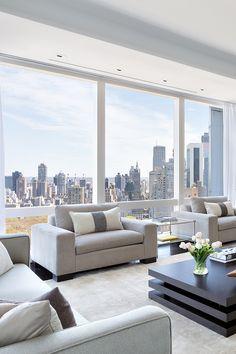 Apartment Architecture Design New York City 25 New Ideas Interior Design Examples, Interior Design Inspiration, Home Interior Design, Apartamento Penthouse, New Yorker Stil, Home Luxury, Luxury Lifestyle, Luxury Decor, Luxury Living