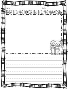 FREEBIE! This is a back to school/beginning of the year writing activity that I give my students on the first day of school. You can use it to begin a portfolio of your students' writing or you can put this writing activity up on the first day. You'll have writing up on the very first day and you'll be on your way to collecting your students' monthly writing to monitor their progress!