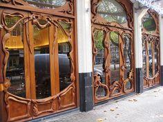 puertas de art nouveau, Amsterdam