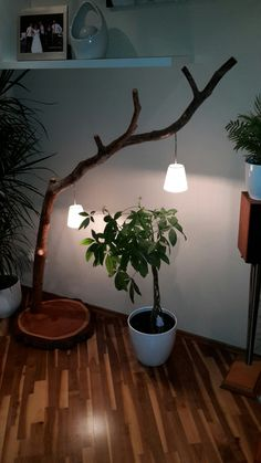 Astlampe Stehlampe Altholz Decoration, Student, Lighting, Home Decor, Wood Pieces, Old Wood, Deco, Decor, Decoration Home