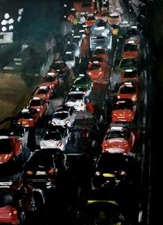 Car Headlights, Car Lights, Art Pictures, Times Square, Tokyo, Places To Visit, Oil, Night, Travel