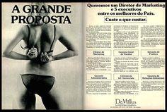 Anúncio De Millus - 1977
