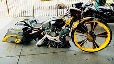 Harley Bikes, Harley Davidson Motorcycles, Custom Motorcycles, Custom Bikes, Bagger Motorcycle, Moto Bike, Custom Baggers, Custom Harleys, Sidecar