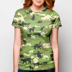 0ba7b08a Catmouflage - The Cat Camo T-Shirt on the redditgifts Marketplace...perfect