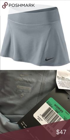 Nike athletic skort NWT! Gray athletic skort. Also available in purple, see other listing. Nike Shorts Skorts