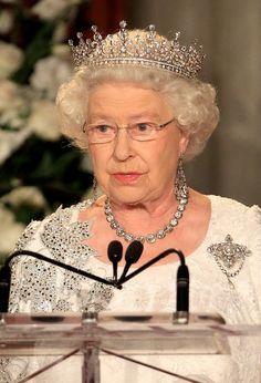 The Queen, wearing Lindberg spirit titanium