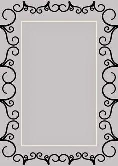 CARATULAS ESCOLARES: Ornamento Deco Gris