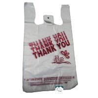 "Plastic Thank You T Sacks 1/6 1000 Bags Carton by Sweet Paper Sales. $17.99. Case of 1000. Item #: T16THKYOU. White T-Sack with ""Thank You"" Imprint in Red. 12"" x 6"" x 22"" Customers also search for: plasticbag tsack t sack Plastic Bags T Sacks, T1/6THKYOU"