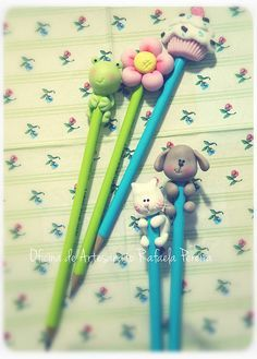 Lápis fofinhos! by Rafa Pereira, via Flickr