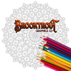Downloadable and Printable Coloring Mandala by BrooktroutGraphicsCo on Etsy