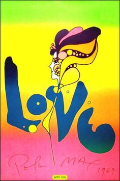 Vintage Peter Max poster 36 x 24 inches © Peter Max - 1967