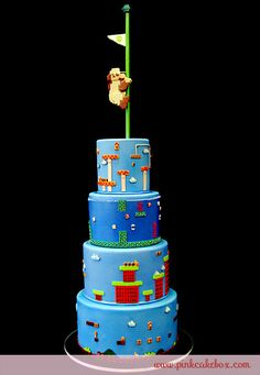 25th Anniversary Super Mario Brothers Cake by Pink Cake Box