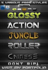 photoshop font styles
