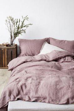 20+ Romantic Bedroom for Couple   Romantic Decor Ideas #Bedroom #Romantic #Couple #RomanticBedroom #Shabby #Chic Washed Linen Duvet Cover, Bed Linen Sets, Linen Sheets, Bed Sets, Dream Bedroom, Home Bedroom, Bedroom Decor, Bedroom Romantic, Master Bedroom