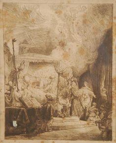 Lot :  Rembrandt Harmensz.Van Rijn   - La mort de la Vierge  - Eau-forte.  -   -  -  | Dans la vente Maîtres Anciens et Modernes, Arts de la Chine, Objets de Collection à Brussels Art Auctions