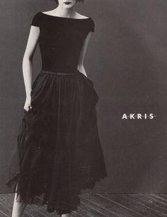Stella Tennant by Steven Klein for Akris F/W 1995.