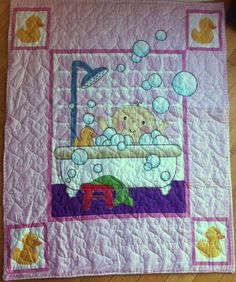 Baby in the Bath Quilt by TheRuthlessCrafter on Etsy