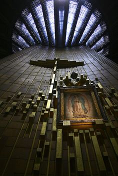 Basilica de Guadalupe, México /// Pedro Ramírez Vázquez, Francisco Antonio de Guerrero y Torres Great Places, Beautiful Places, Places To Visit, Visit Mexico, México City, Cancun Mexico, Chapelle, Mexican Art, Place Of Worship