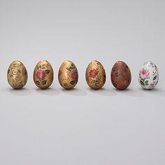 RUT BRYK, koristemunia, 6 kpl, keramiikkaa, signeeratut Bryk. Arabia, 1970-luku. - Bukowskis Bukowski, Candle, Designers, Ideas, Food, Art, Art Background, Essen, Kunst