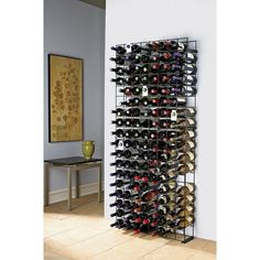144 Bottle Black Tie Grid Wine Rack
