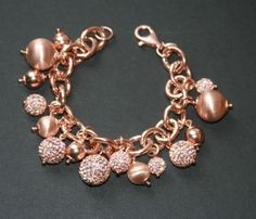 Vicenza-Sterling-Silver-and-14K-Rose-Gold-Vermeil-Charm-Bracelet-Italy